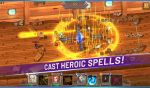Cast heroic spells in crystal maidens