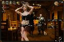 Smooth belly dancer gives a strip show in a bar