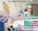 Slutty nurse with mini skirt seduces a doctor
