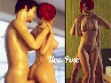 Real porn game with live 3d sex