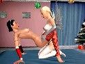 3d lesbian show with a strapon live sex