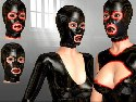 Latex masks for a rubber fetish adults